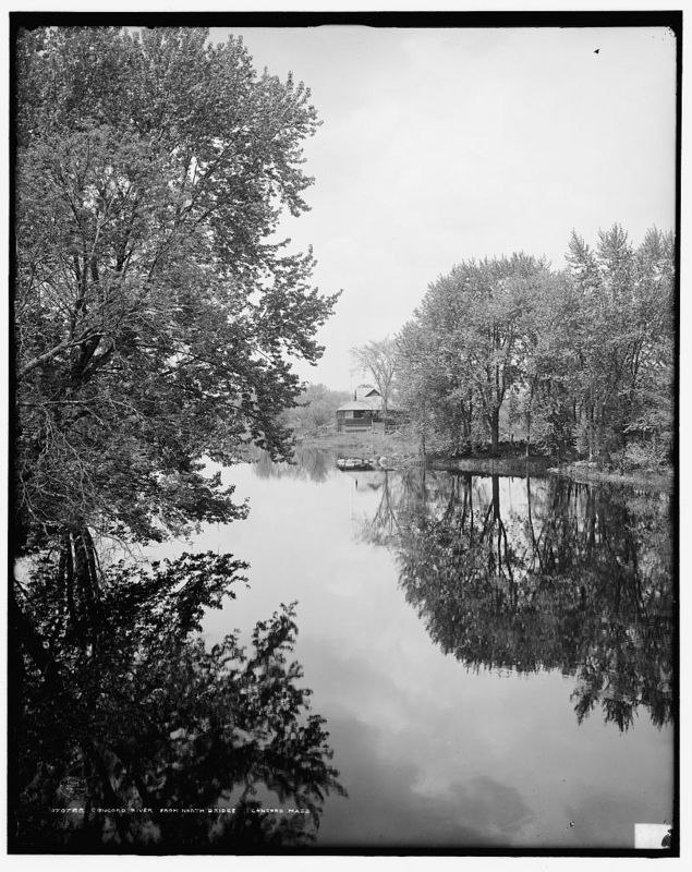 Concord River from north bridge, Concord, Mass.